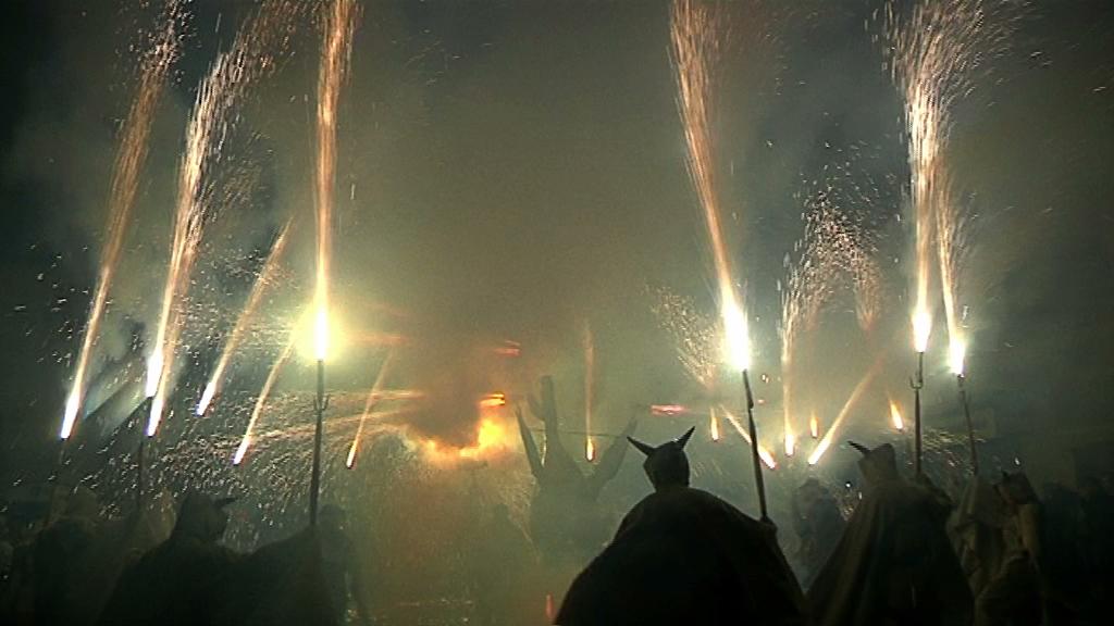 Amb un temps immillorable i gran ambient festiu els Diables de Vilafranca han celebrat la vuitena edició del Diabòlic