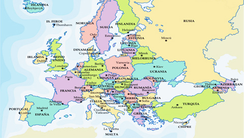 Europa, aquí