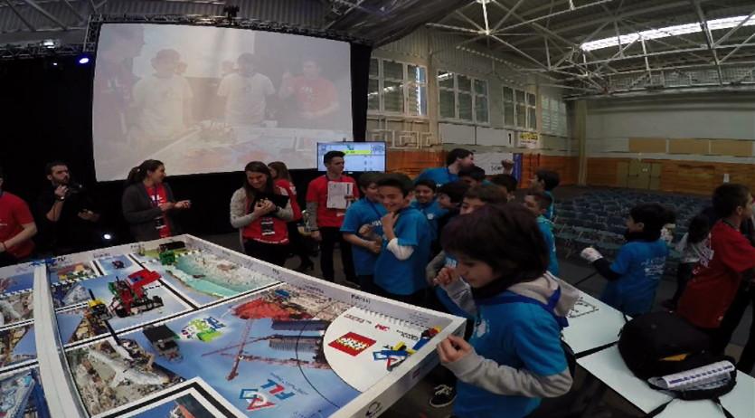 Alumnes de l'escola Sant Ramon competeixen en la final estatal del First Lego League que es va fer a Girona