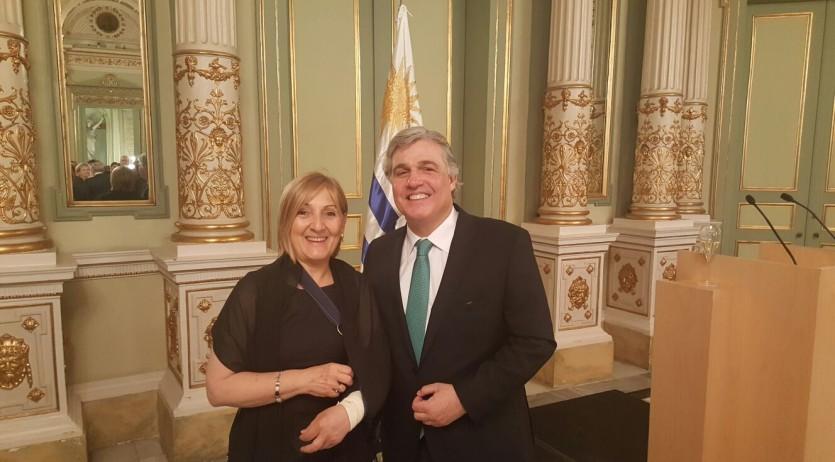 Rosell participa en la recepció a Barcelona amb motiu de la Festa Nacional de l'Uruguai