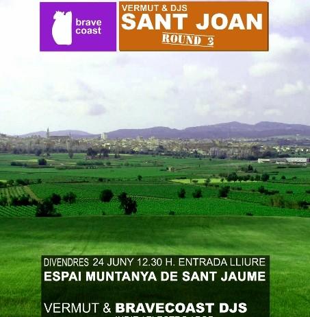 Aquest divendres arriba el tercer Vermut & Brave Coast dj's a l'Espai Muntanya de Sant Jaume
