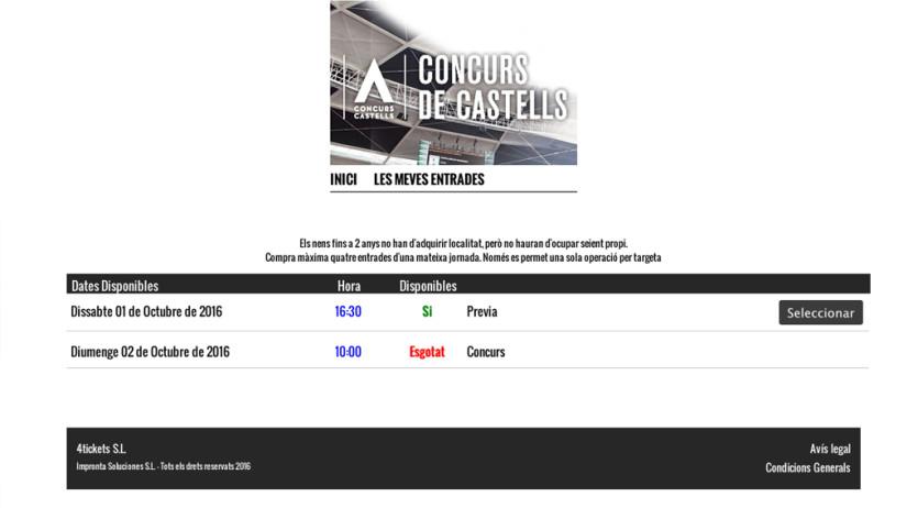 Les entrades del Concurs de Castells de Tarragona per diumenge s'han esgotat