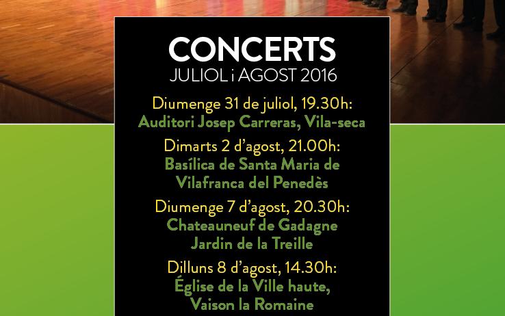 El Cor Jove Nacional de Catalunya i el de Noruega faran un concert a Vilafranca