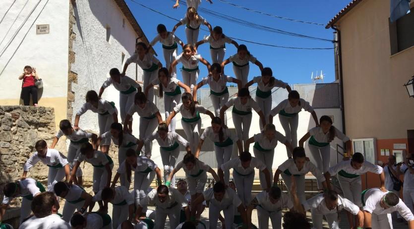 Els Falcons han actuat a la Festa Major de Pontons