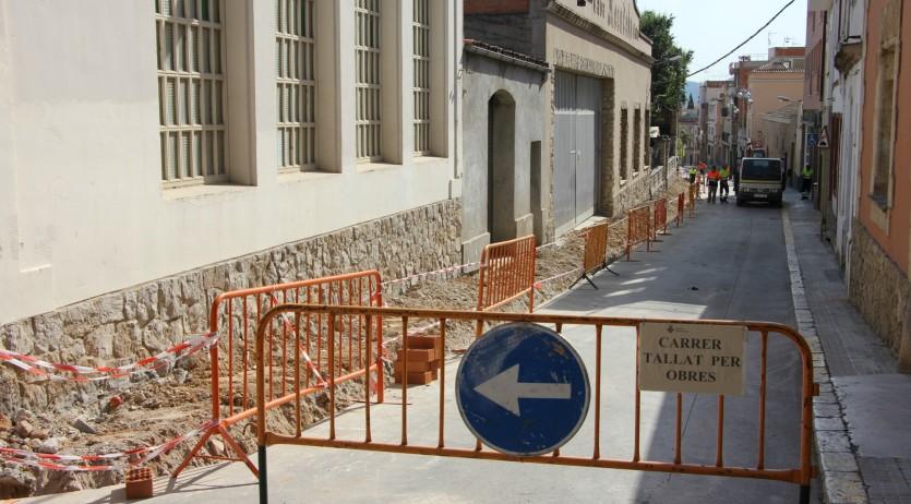 L'Ajuntament de Sant Sadurní fa obres al carrer Sant Pere per fer-lo més segur i accessible