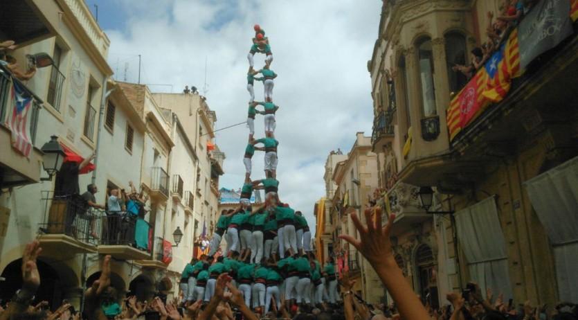 L'Arboç plaça de castells de 10, gràcies a uns Castellers de Vilafranca valents