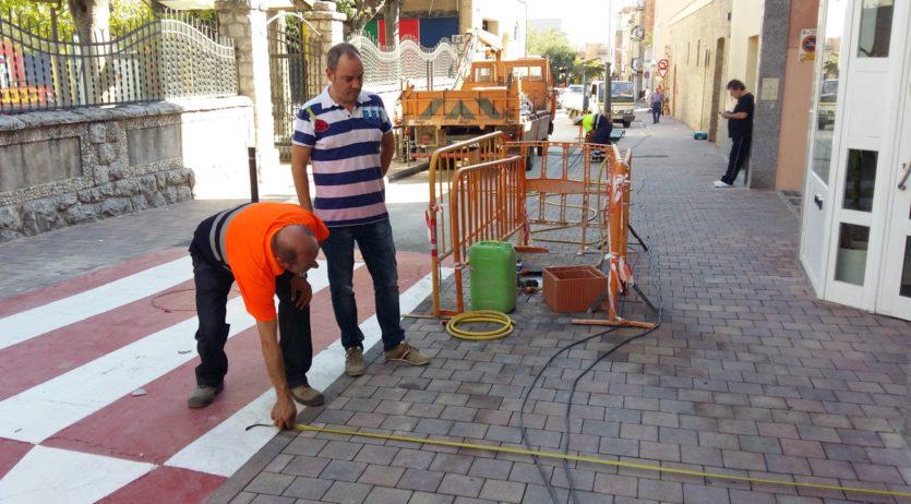 Finalitzen les obres al carrer Sant Pere, a Sant Sadurní