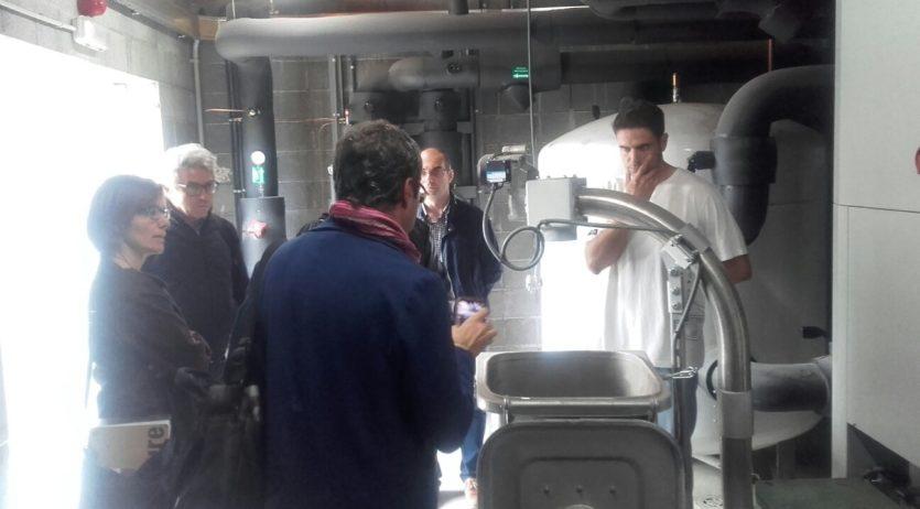 Tècnics de les Diputacions de Barcelona i Lleida visiten la caldera de biomassa de Sant Sadurní