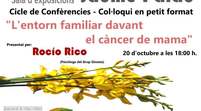 Ginesta organitza una xerrada sobre l'afectació del càncer en l'entorn familiar