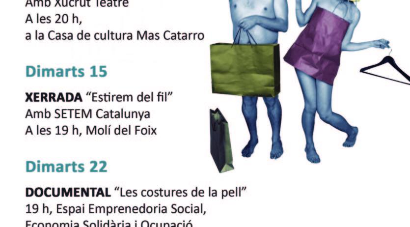 Santa Margarida i els Monjos acull una campanya sobre el consum responsable de roba