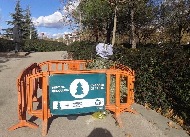 """Vilafranca instal·la un any més """"Punts de recollida"""" d'arbres de Nadal"""