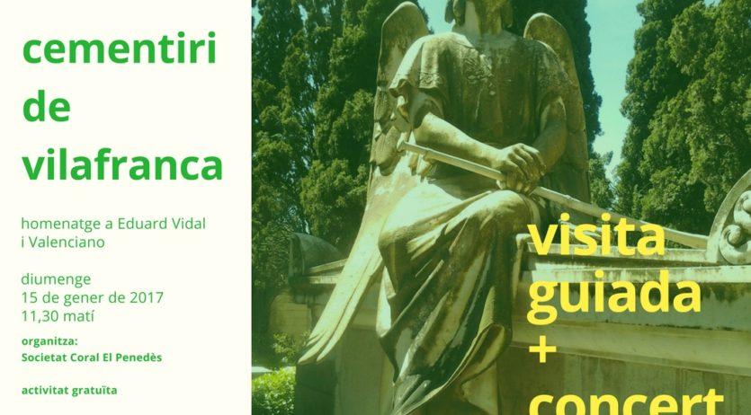 Diumenge hi haurà visita guiada i concert al cementiri de Vilafranca