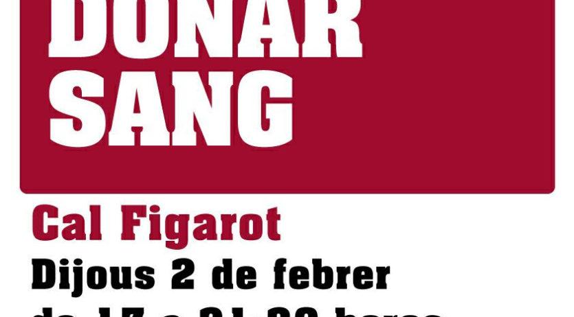 Cal Figarot acollirà dijous una nova jornada de donació de sang