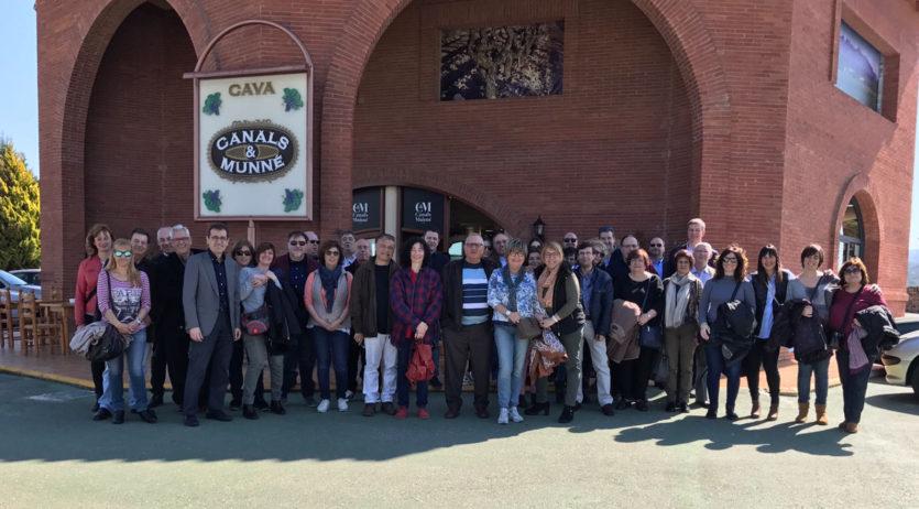 Tècnics Tributaris de Catalunya i Balears han fet una trobada de germanor a Sant Sadurní