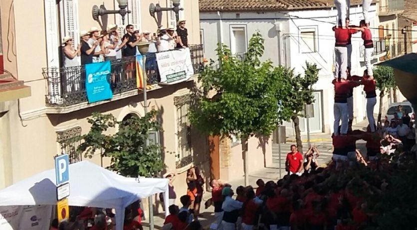 Xicots, Joves de Valls i Castellers de Sant Cugat les colles de la diada de la FM de la Granada