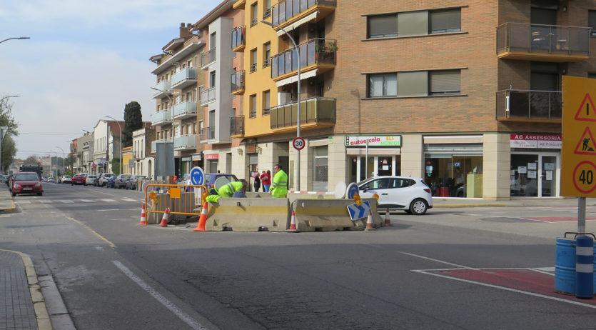 Comencen les obres de construcció de la rotonda de l'avinguda de Cal Rubió, als Monjos