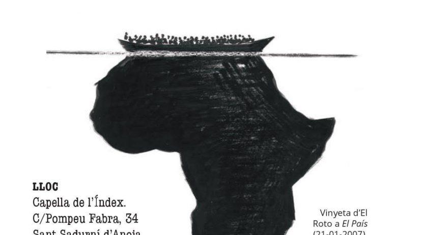 Marina Raventós inaugura l'exposició 'Anti-racisme versus indiferència' a l'Índex