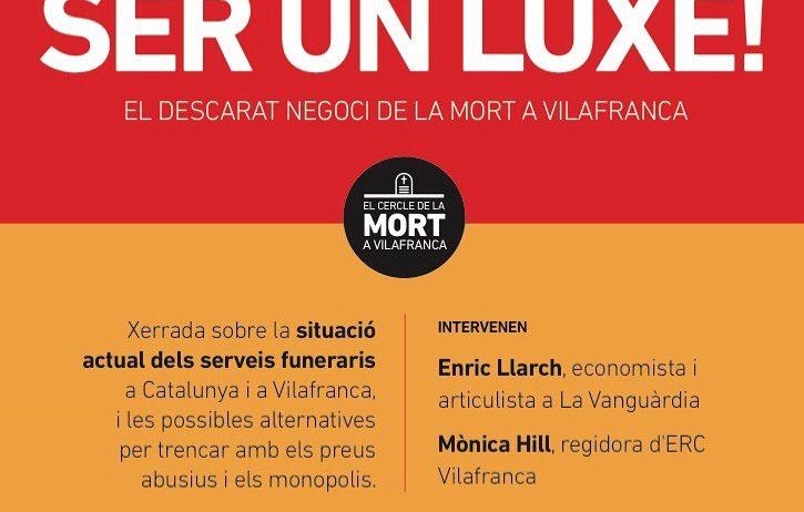 ERC organitza un acte per debatre sobre el model de serveis funeraris a Vilafranca
