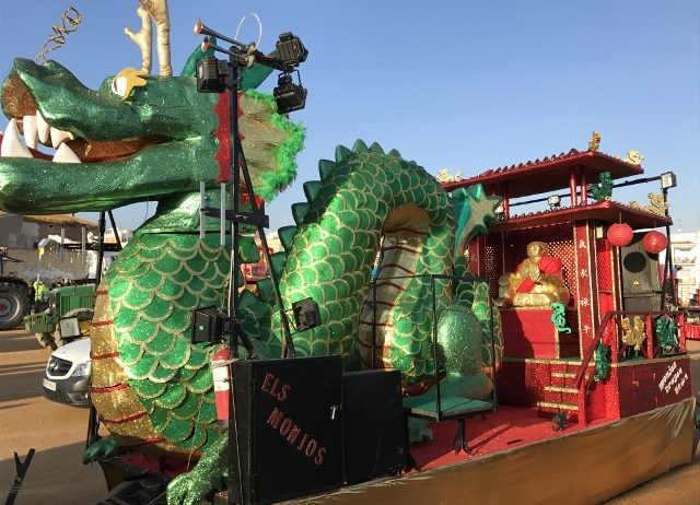 "La carrossa ""Monjos Dragon Town"" participa al 55è carrusel de la Costa Brava a Palafrugell"