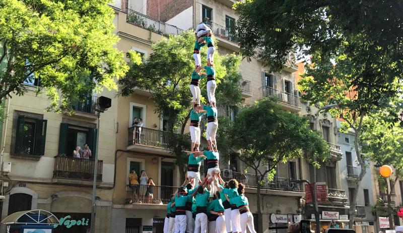 Diada de tràmit dels Castellers de Vilafranca a Sants