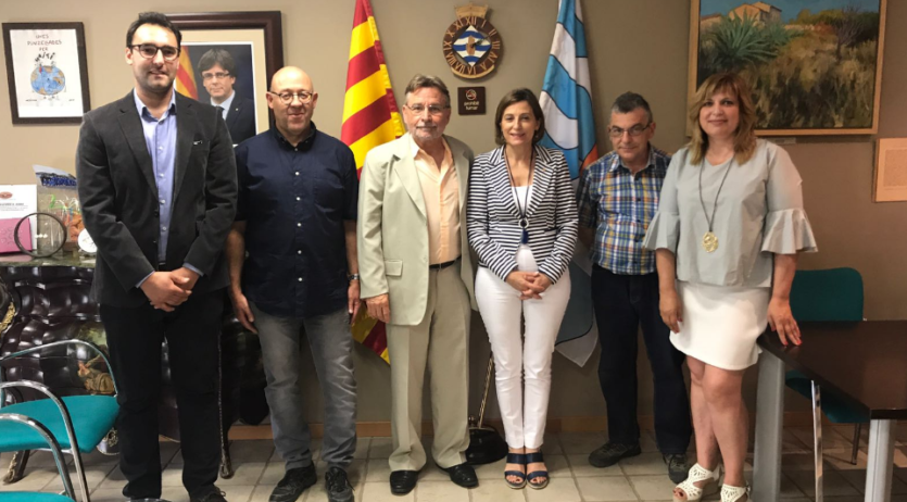 Carme Forcadell, presidenta del Parlament, ha visita aquest divendres Sant Joan de Mediona