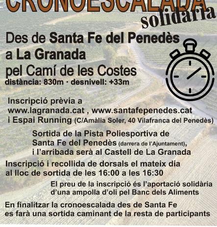 La Cronoescalada Santa Fe-La Granada viurà la primera edició el diumenge 8 d'octubre