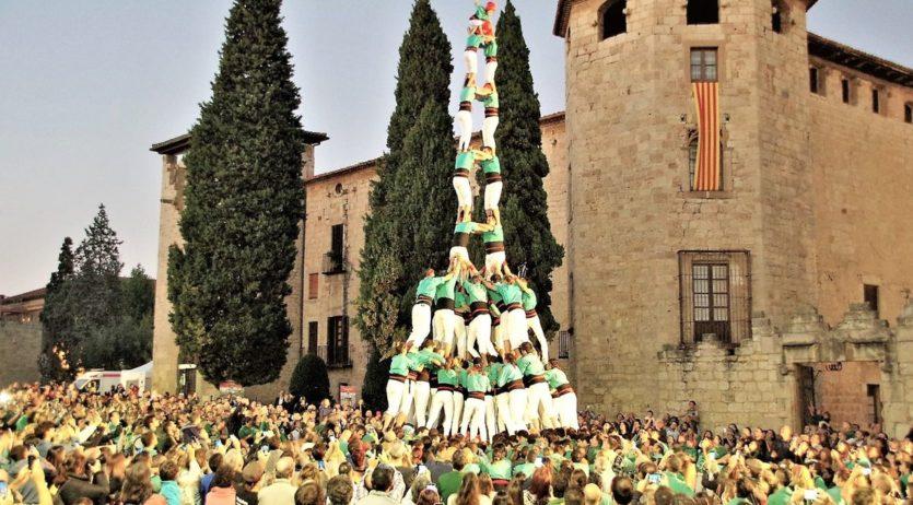 Gamma Extra i ensurt dels Castellers de Vilafranca a Sant Cugat del Vallès