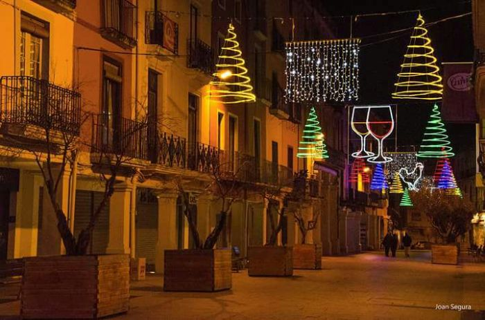 La il·luminació nadalenca de Vilafranca m'agrada…