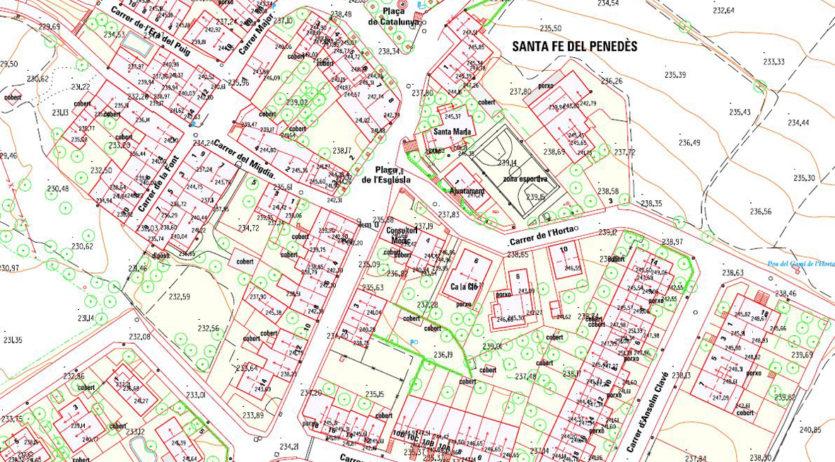La Diputació ha actualitzar la cartografia topogràfica urbana de Santa Fe del Penedès