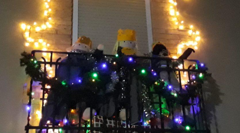 Gemma Albà guanya la primera edició del Concurs de decoració de balcons de Nadal de la Granada