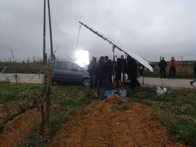 Olèrdola continua atraient filmacions i ha acollit el rodatge d'un anunci de begudes