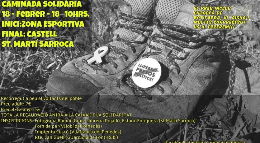 Sant Martí organitza una caminada per recollir fons per la caixa de solidaritat amb els presos