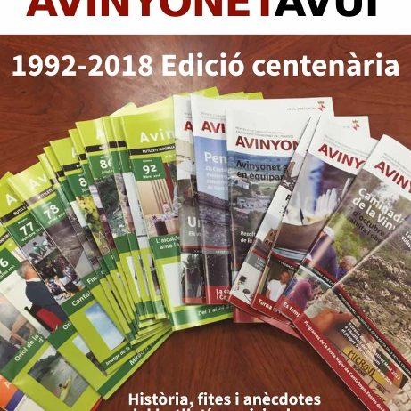 """El butlletí municipal """"Avinyonet Avui"""" arriba al número 100"""