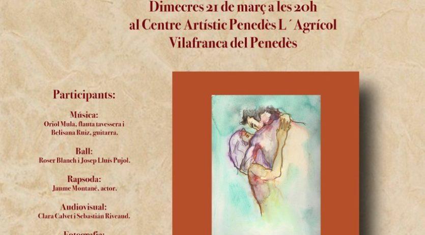 Miquel Cartró presentarà per segona vegada el poemari eròtic Festí a Vilafranca