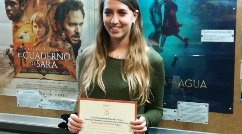 Cristina  Esteban Baena  és la  guanyadora de la Travessa dels Oscar 2018