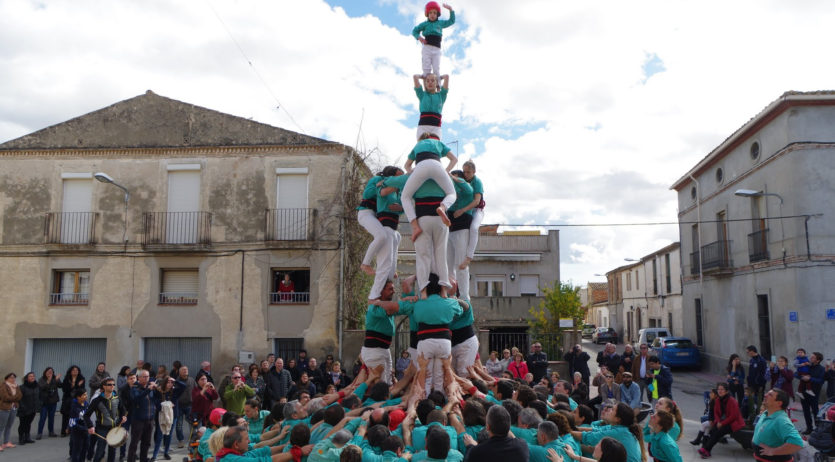 Els Castellers de Vilafranca enceten al Pla la temporada, amb castells de gamma alta de set