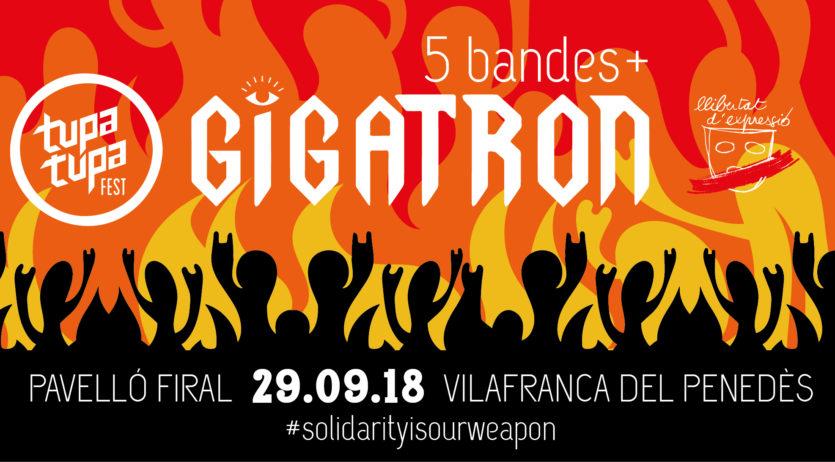 Gigatron serà el cap de cartell del concert de bandes del Tupa Tupa Fest, el 29 de setembre