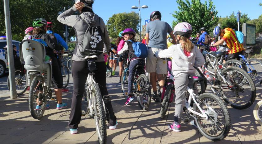 Els Monjos celebra la Bicicletada contra el canvi climàtic