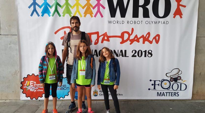 Tres alumnes de l'escola Jaume Balmes, a la Final Nacional del Campionat Mundial de Robòtica