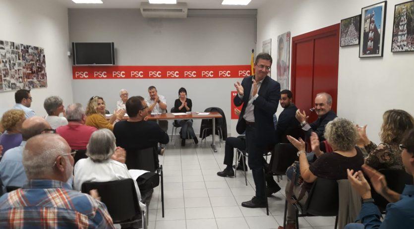 Romero és proclamat candidat del PSC per aclamació de l'assemblea socialista de Vilafranca