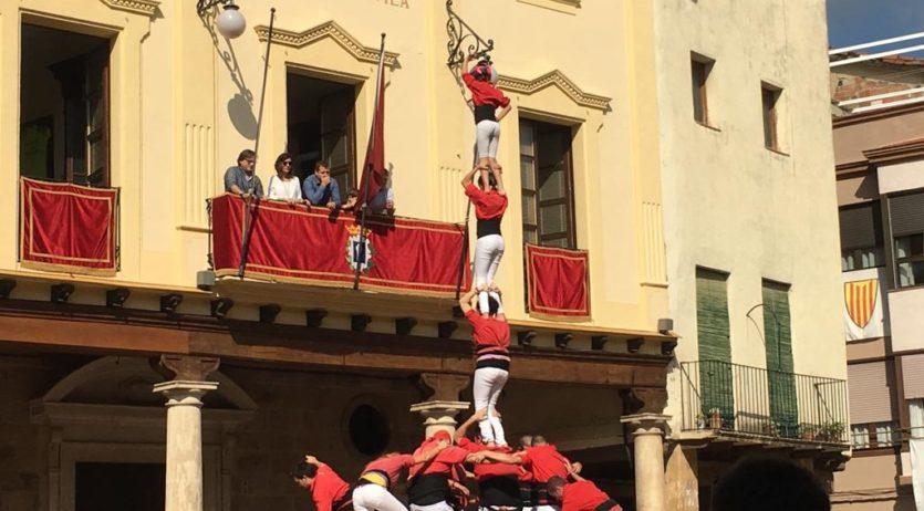 Els Xicots de Vilafranca han actuat aquest diumenge al migdia a Alcover