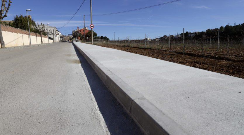 Recta final per als treballs del nou vial peatonal entre l'Arboçar i l'Arboçar de Baix