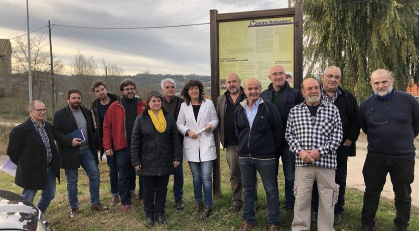 Teresa Jordà mostra el suport al projecte Camí ramader de Marina. De la Cerdanya al Penedès