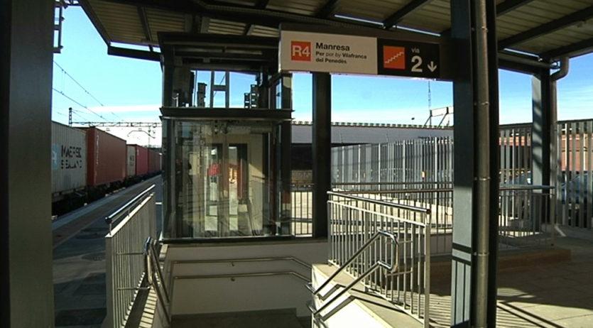 S'inicia el funcionament dels ascensors a l'estació d'Els Monjos