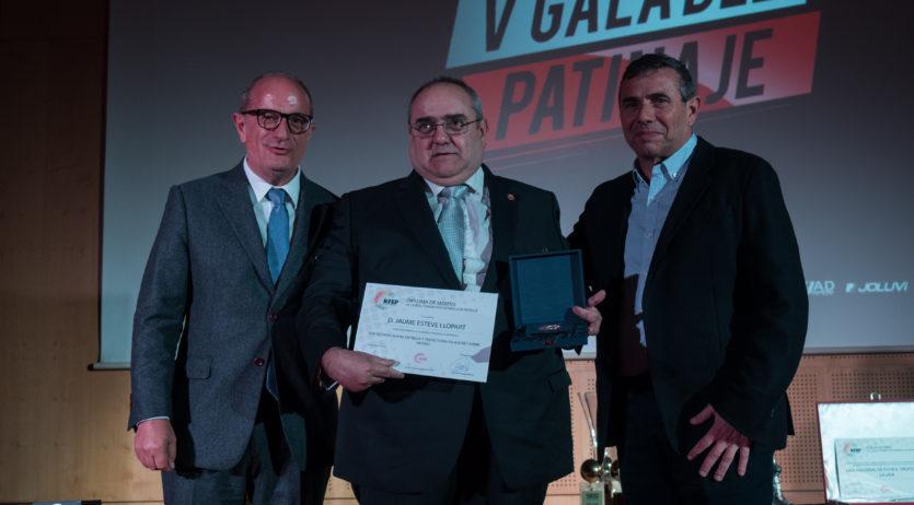 Jordi Bargalló, Pedro Gil, Marc Gual, Jaume Esteve premiats a la Gala de Patinatge