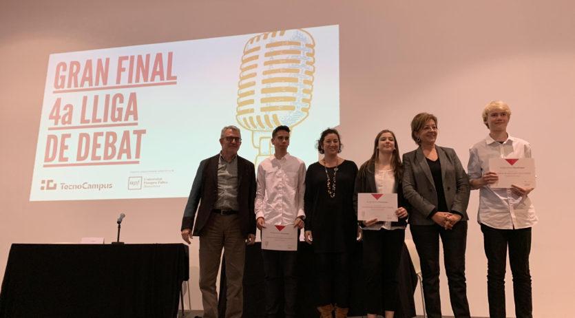 Alumnes de l'Institut Vall del Mediona segons en la Lliga de Debat del TecnoCampus de Mataró