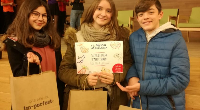 Projecte contra el malbaratament alimentari premiat d'alumnes de l'IES Vall del Mediona
