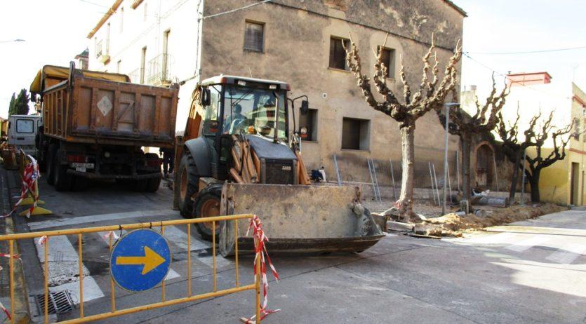 Comencen les obres de reurbanització de la plaça Ametller de Moja
