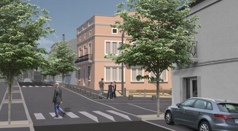 Comencen les obres de reurbanització del carrer de l'Estació de la Granada