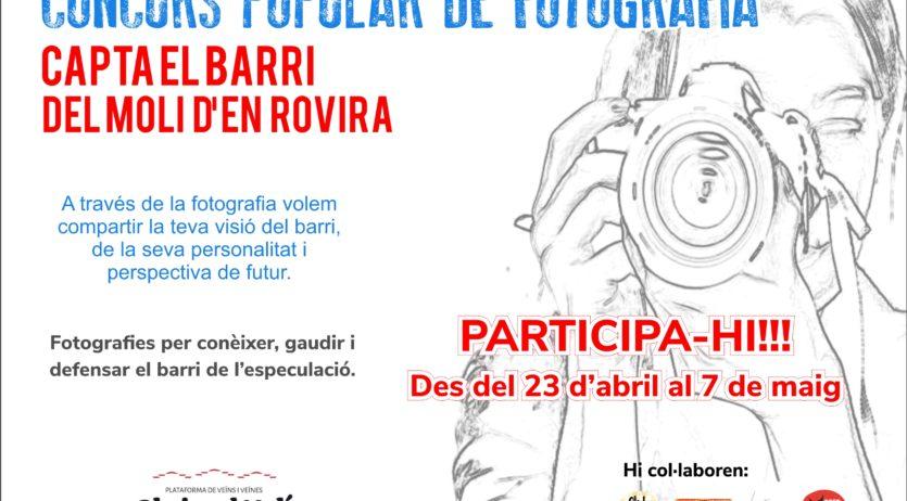 """La plataforma de veïns i veïnes """"obrim el Molí d'en Rovira"""" organitza un concurs de fotografia"""